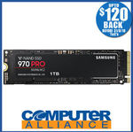 Samsung 970 Pro 1TB $615.20 ($495.20 after Samsung Cashback) + $15 Delivery (Free with eBay Plus) @ Computer Alliance eBay
