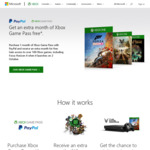Xbox Game Pass - Buy 1 Month Get 1 Month Free @ Microsoft via PayPal Payment Method