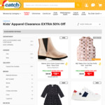 Extra 50% off Kids Apparel (400+ Styles, Prices Already Reduced) + Shipping @ Catch