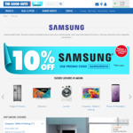 10% off Samsung Products @ The Good Guys