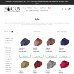 50% off All Ties & Cufflinks Storewide (Ties $15, Cufflinks $10), Free Shipping for $40+ Order @ Focus Ties