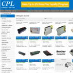 Compatible Inks / Toner Cartridges 35% off (Brother TN-155Bc Toner $29.30, Epson 73N Black $3.30) + $5 Ship, Free over $50 @ CPL