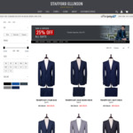 Further 25% OFF All Suits | Suits from $149, Superfine Merino Wool from $261 | STAFFORD ELLINSON