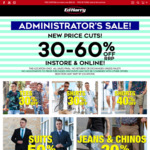 Ed Harry Administrator's Sale 30-60% off RRP