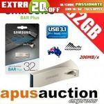 [eBay Plus] Samsung 32GB USB 3.1 Bar Plus $13.56 Delivered @ Apus eBay
