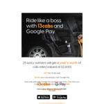 Win 1 of 25 Prizes of a Year's Worth of Cab Rides Valued at $2,600 [Get The 13cabs App and Then Book + Pay with Google Pay]