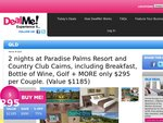 75% off 2 Nights @ Paradise Palms Resort Cairns B/Fast Wine, Golf & More Save $890 Now $295