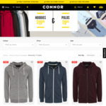 Hoodies $19.99, Polos $9.99 @ Connor (Free Click & Collect)