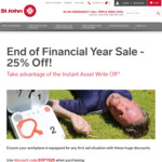 [WA] St John First Aid: End of Financial Year Sale - 25% off First Aid Courses & Equipment