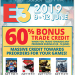 Get 50% ~ 70% Bonus Trade Credit When Trading Towards Preorder (8th-16th) as a EB World Member @ EB Games