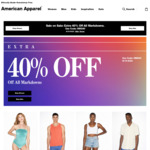 American Apparel - Further 40% off Discounted Items