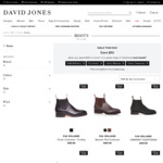 Save $50 When You Spend $150+ on Full-Priced Men's and Women's Boots @ David Jones
