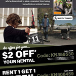 Rent 1 Get 1 Free and $2 off Video Rental @ Video Ezy Kiosk