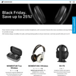 Up to 25% off Selected Sennheiser Headphones (e.g. PXC550 Noise Cancelling Heaphones $249.95 (OOS)) @ Sennheiser