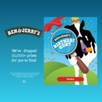 Win a Share of 10,000 Prizes or a Year's Supply of Ice Cream from Ben & Jerry's