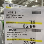 [Switch] Nintendo Pro Controller $65.99 @ Costco (Membership Required)