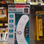 [NSW] Crest Curved Power Board with 3x USB-A 1X USB-C Fast Charging Ports $20 (RRP $33) @ Bunnings, Caringbah