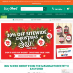 Minimum 30% off Garden Sheds | Christmas Sitewide Sale at EasyShed.com.au