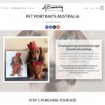 Custom Painted Medium Sized Pet Portraits $397 ($200 off) + $9.99 Shipping @ Ashley Bunting Studio
