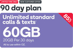 Kogan Mobile | $14.90 for 90 Days | 20GB Per 30 Days | Unlimited Talk & Text (New Customers)