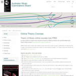 Australian Music Examinations Board - Grades 1 to 3 Theory of Music Online Courses (now Free)