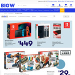 10% off Nintendo E-Shop Gift Cards, Nintendo Labo Kits $29, Hot Wheels 10 Pack $9.50 @ BigW