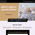 Win $1,000 Worth of Bedding Products from Bianca September Competition