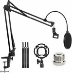 40% off Mic Stand Suspension Boom Arm $26.20 + Delivery ($0 with Prime / $39 Spend) @ Findyouled Amazon AU