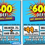 $600 off Any iPhone/Android on Telstra $99/M 12M Plan (Min Cost $1188, Requires Port-in) @ JB Hi-Fi