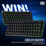 Win 1 of 2 Cooler Master SK622 Wireless Low Profile RGB Keyboards from PC Case Gear