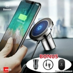 Baseus Qi Wireless Charger + USB Car Charger + USB Cable + Magnetic Pad $14.98 + Del @ Shopping Square
