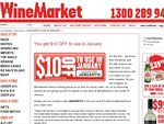 $10 off on Wine at Winemarket Inc Penfolds, Grant Burge and More in January