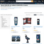 $28 off $144 Spend on Eligible Items (Mostly Bosch Tools/Accessories) + Delivery ($0 with Prime & $49 Spend) @ Amazon US via AU