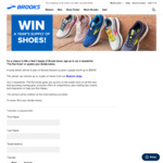 Win Six Pairs of Brooks Runners Worth Up to $1,500 from Brooks