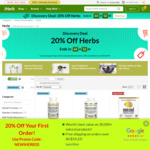 20% + 5% off Herb and Herbal Extracts, Free Delivery with US$40 Order @ iHerb