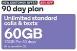 Kogan Prepaid Mobile 90 Days (20GB Per 30 Days) $14.90 (New Customers Offer) @ Kogan