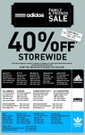 Adidas 40% Storewide Family & Friends Sale (24/5 to 26/5)