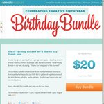 Envato 6th Birthday Bundle for $20