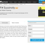 F# Succintly - Free eBook on Microsoft's Functional Programming Language, F#