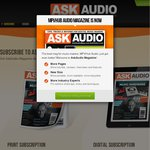 Ask Audio FREE 12 Month (4 Issue) Magazine Subscription Incl. Postage