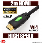 2M HDMI Cable V1.4 1080p Digital Gold Plated $5.95 ($1.95 Postage) @ Shopping Square