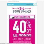 Best&Less 40% off All Bonds until Sunday