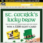 Win a $200 My Pet Warehouse Voucher This St Catrick's Day
