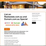 Property Listings on Realestate.com.au and Domain $440.00 until Sold