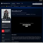 Flash Sale PS Store Bloodborne PS4 $54.95
