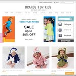25% off on Designer Baby and Toddler Clothes at Brands for Kids. Including Sale Items