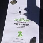 2 for 1 Burritos @ Zambrero, 16/9  (Cloisters Square, Perth)