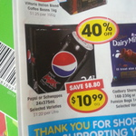 24x 375ml Pepsi or Schweppes Cartons for $10.99 at IGA