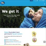 25% off Bow Wow Meow Pet Insurance for The First 12 Months
