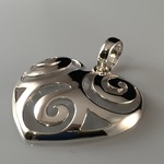 Open Twirls in Convexed Silver Heart Pendant Now $29 Less 15% (RRP $40) + Free Shipping @ LovePureSilver.com